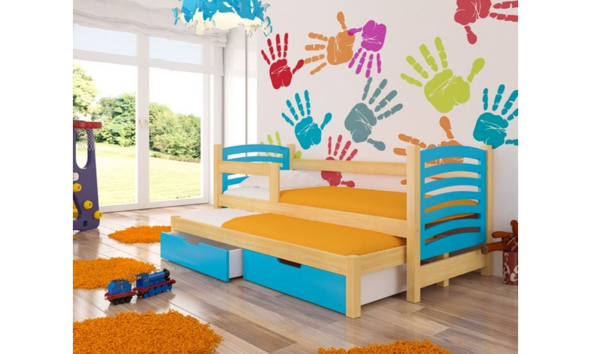 Image of: Modern Children Trundle Bed With Storage 180 X 75 Cm Avila