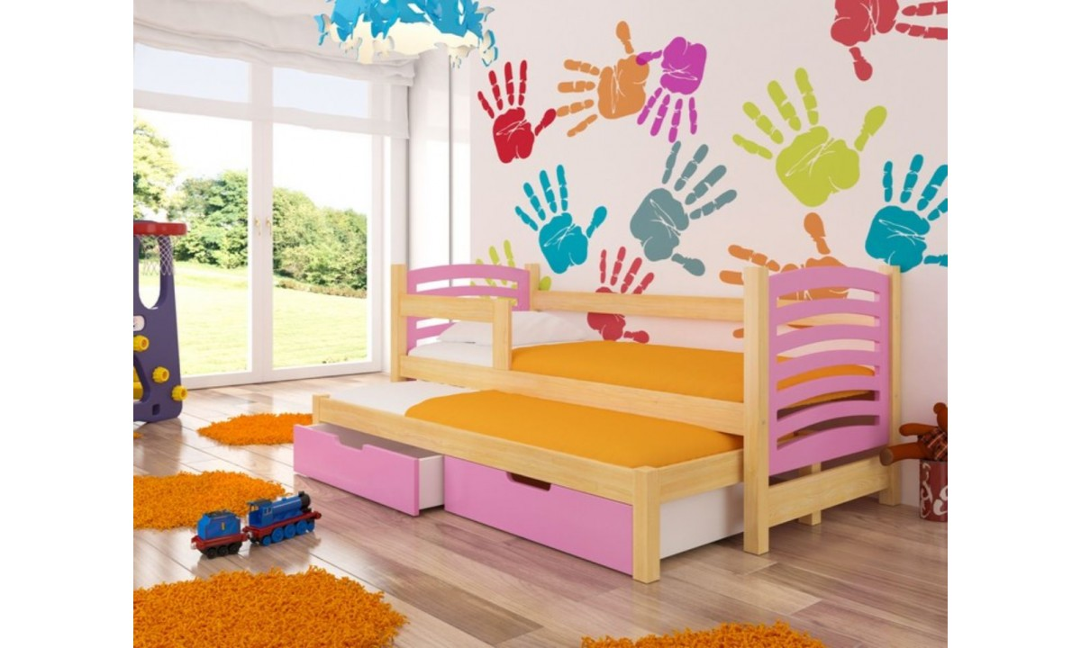 Modern Children Trundle Bed With Storage 180 X 75 Cm Avila