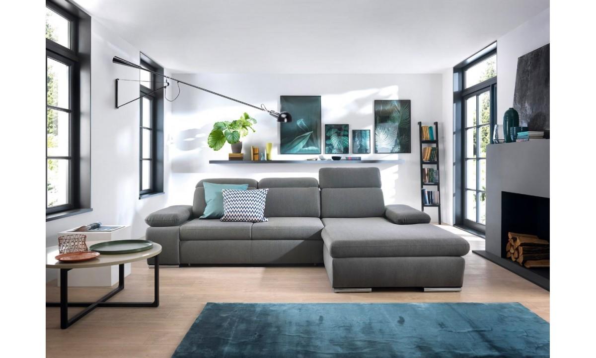 Orlando L Shape Modern Corner Sofa Bed