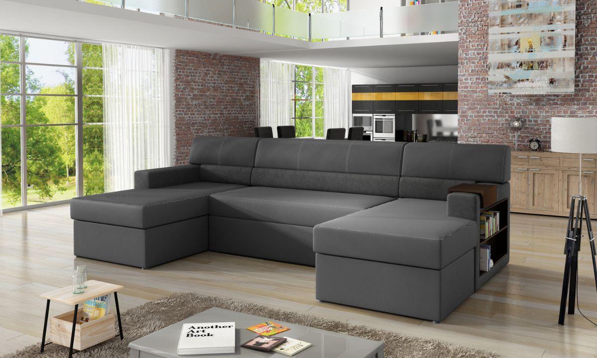 U Shaped Upholstered Sofa Bed with Storage MARKOS